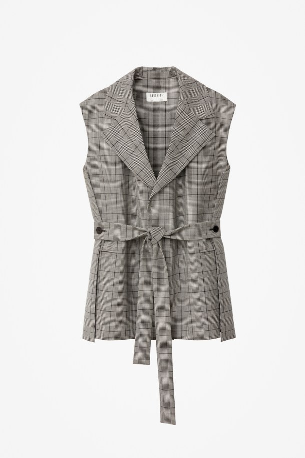 JACKET ROMIE BLACK AND WHITE CHECK