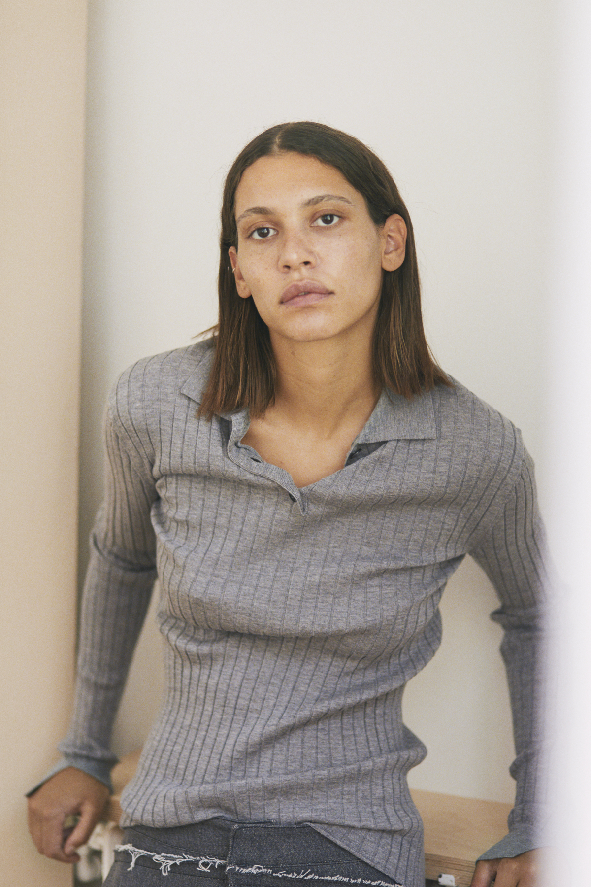 Knit Shirt SHADE, Trousers SOLENNE