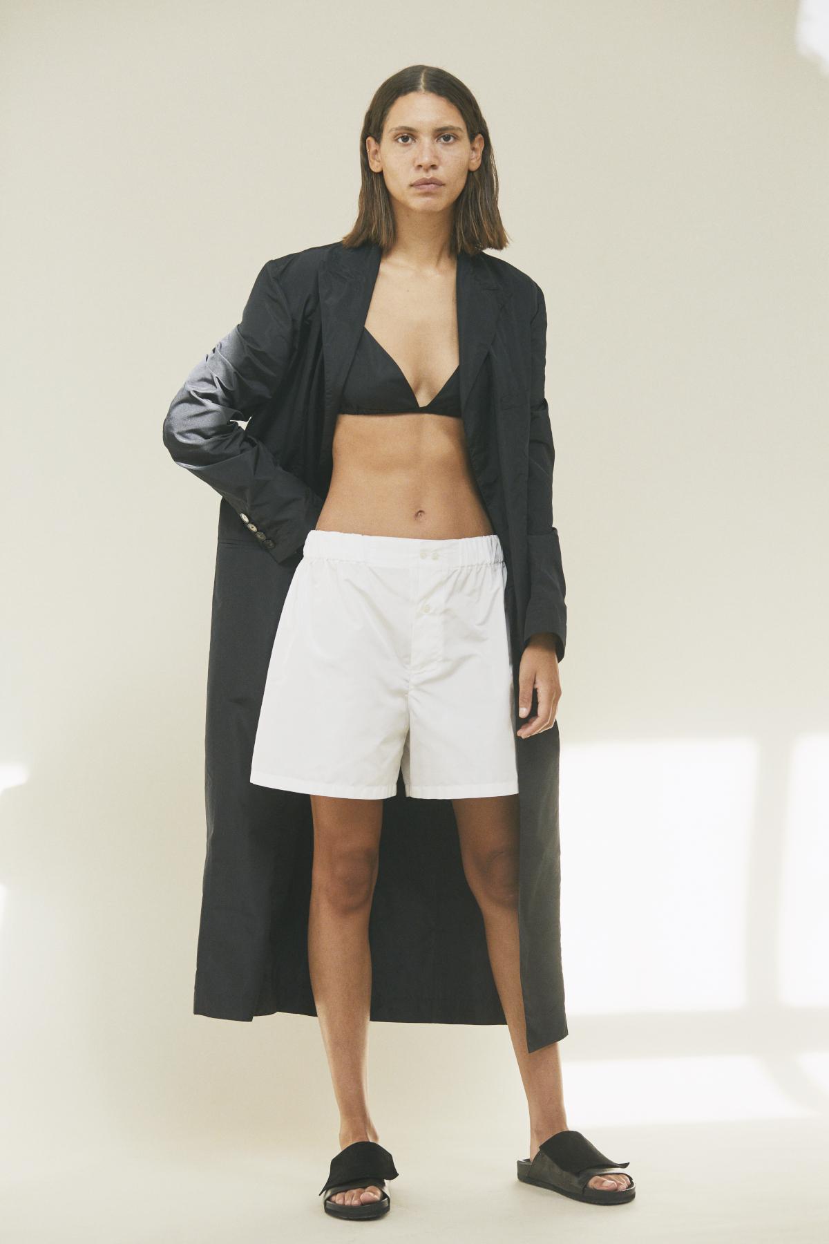 Coat SOLANGE, Bra SUE, Short-pants STACIE