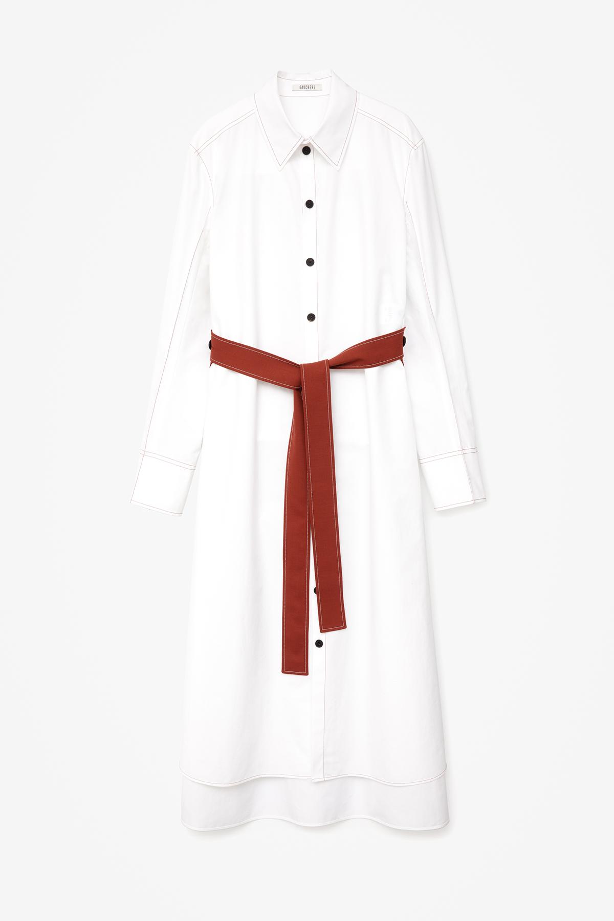 DRESS SYBIL WHITE AND BRICK